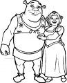 Shrek Together Couple Coloring Page