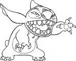 Stitch Scream Coloring Page