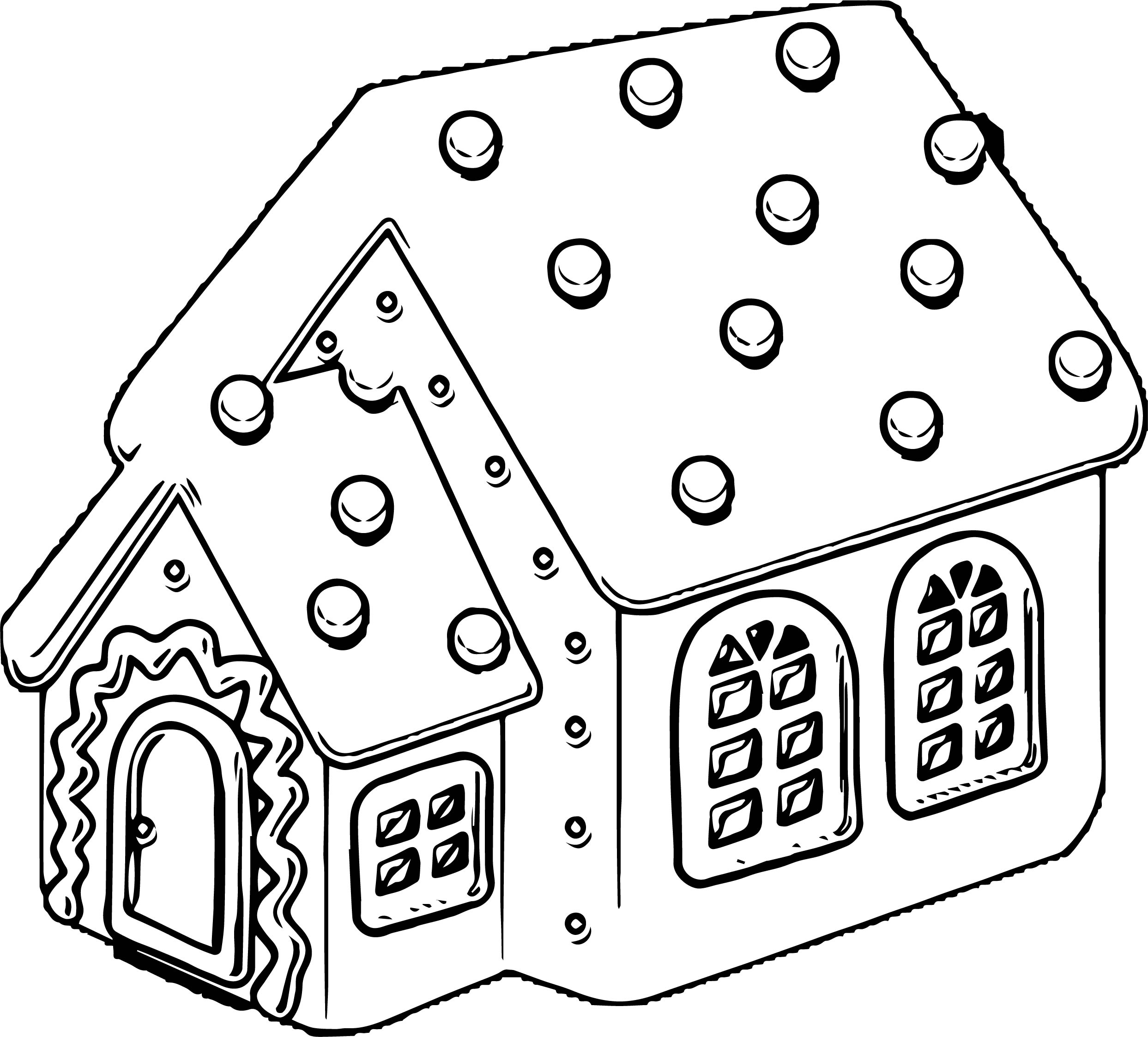 Tall gingerbread house gingerbread house coloring page