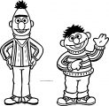 Tattly Sesame Street Characters Bert And Ernie Web Grande Sesame Street Coloring Page