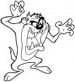 Taz Looney Tunes The Looney Tunes Show Yell Coloring Page