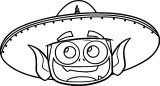 Teen Titans Go Beast Boy Funny Face Hat Coloring Page