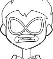 Teen Titans Go Beast Boy What Face Coloring Page