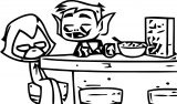 Teen Titans Go Clip Th Coloring Page