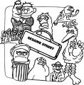 The Songs Of Sesame Street Coloring Page