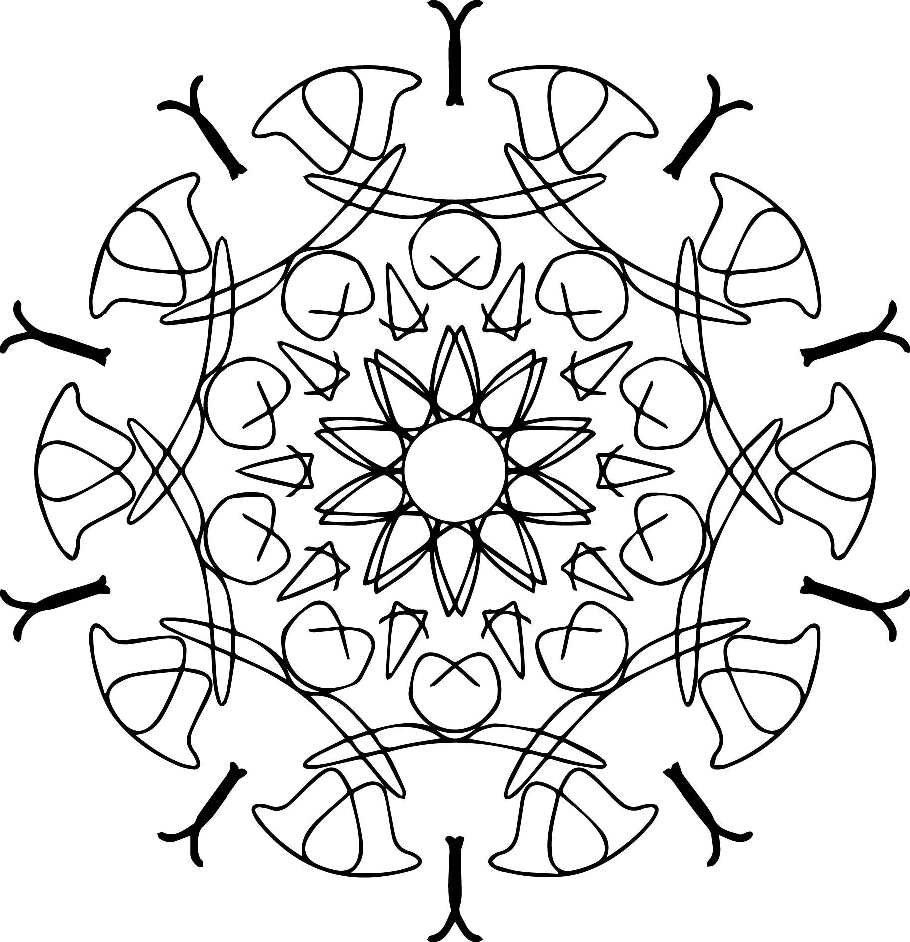 Too Mandala Coloring Page