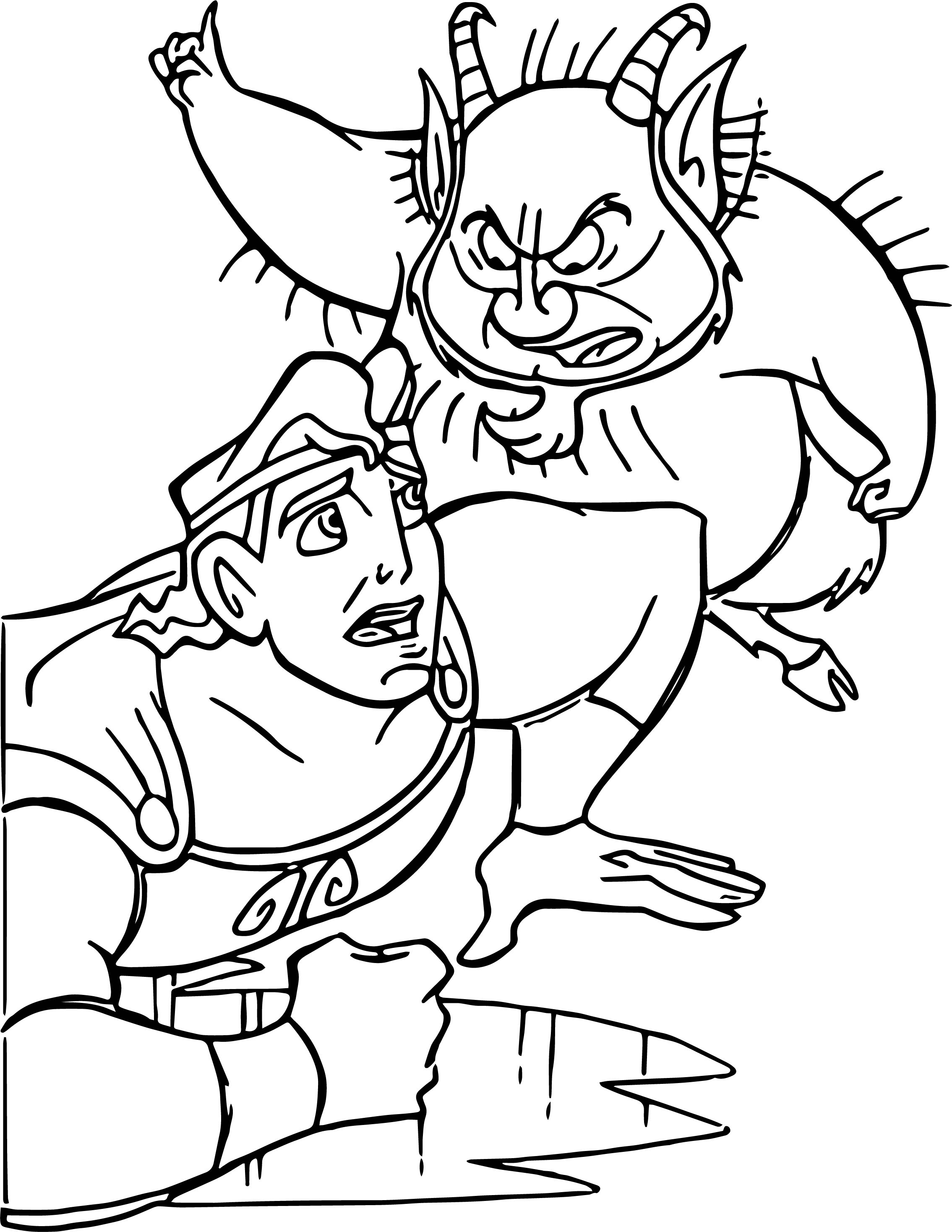 Training Hercules 2 Coloring Pages