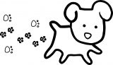 Walking Small Puppy Dog Coloring Page