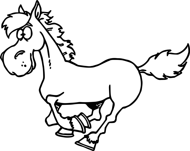 We Coloringa Galloping Horse Coloring Page