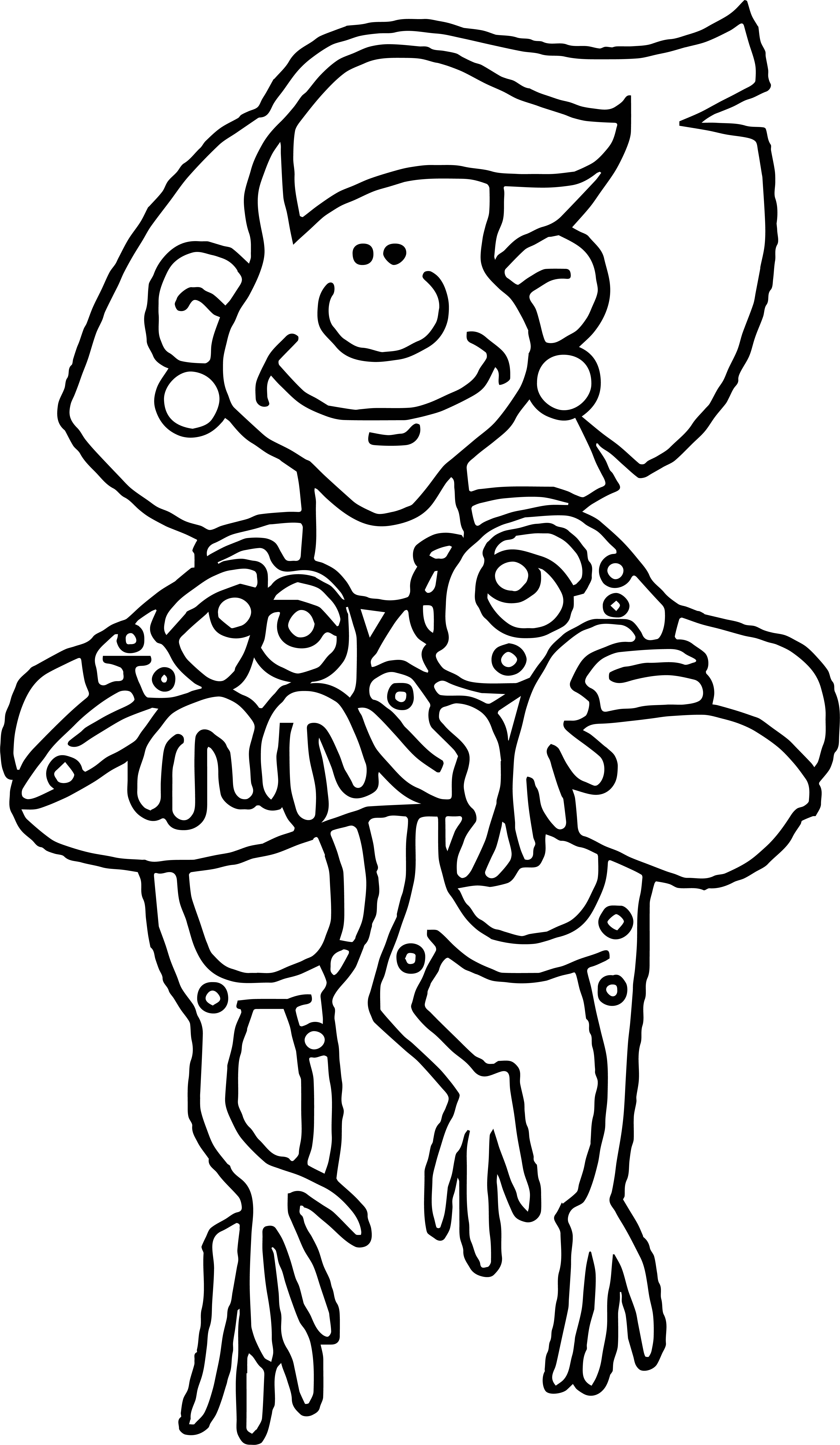 Woman My Frogs Coloring Page