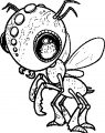alien bug insect coloring page