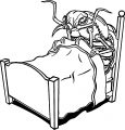 dont let the bed bugs bite insect coloring page
