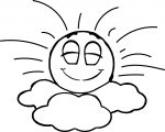 emoticon in seventh heaven sunny sky coloring page