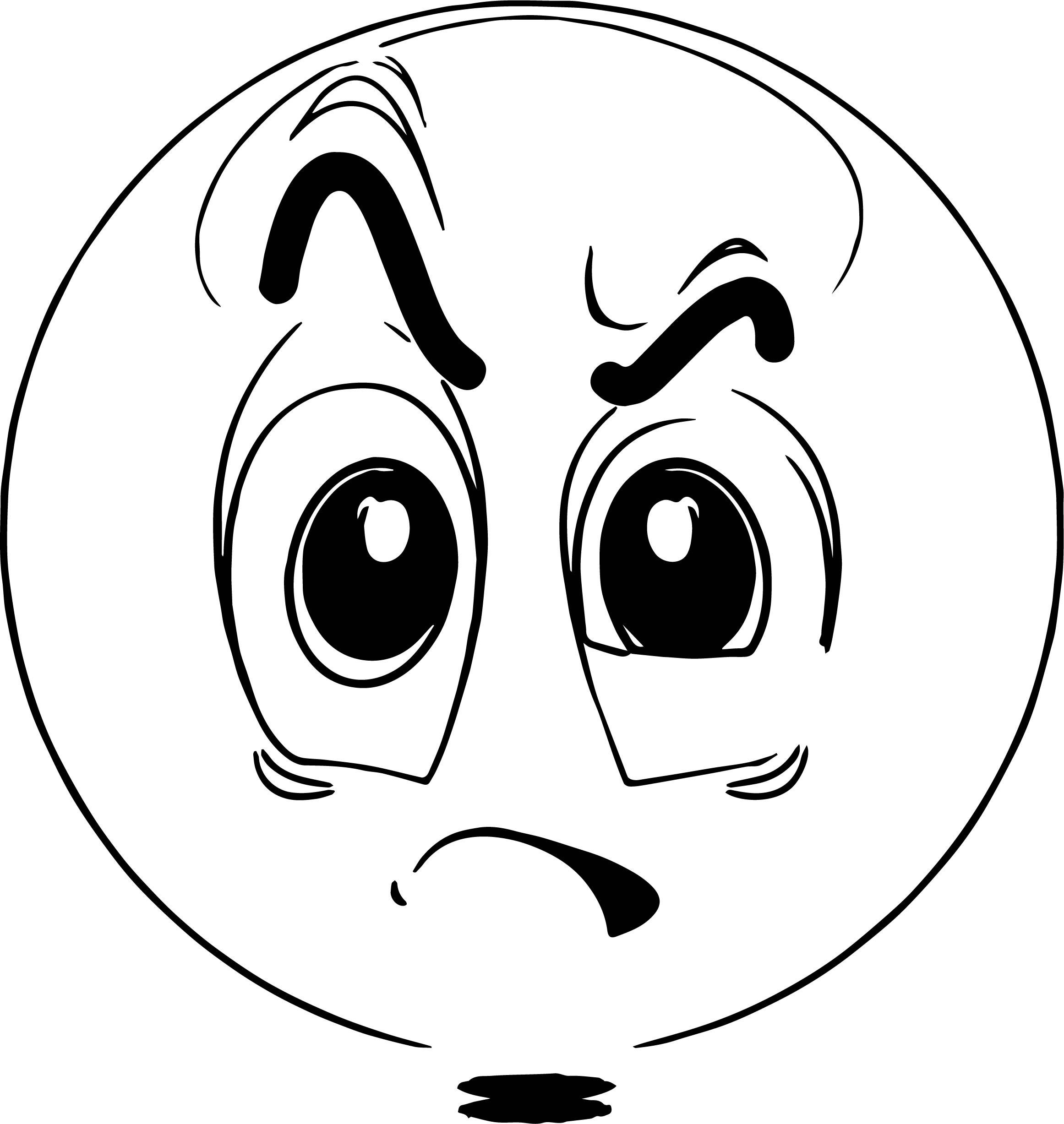 emoticon raising eyebrow coloring page