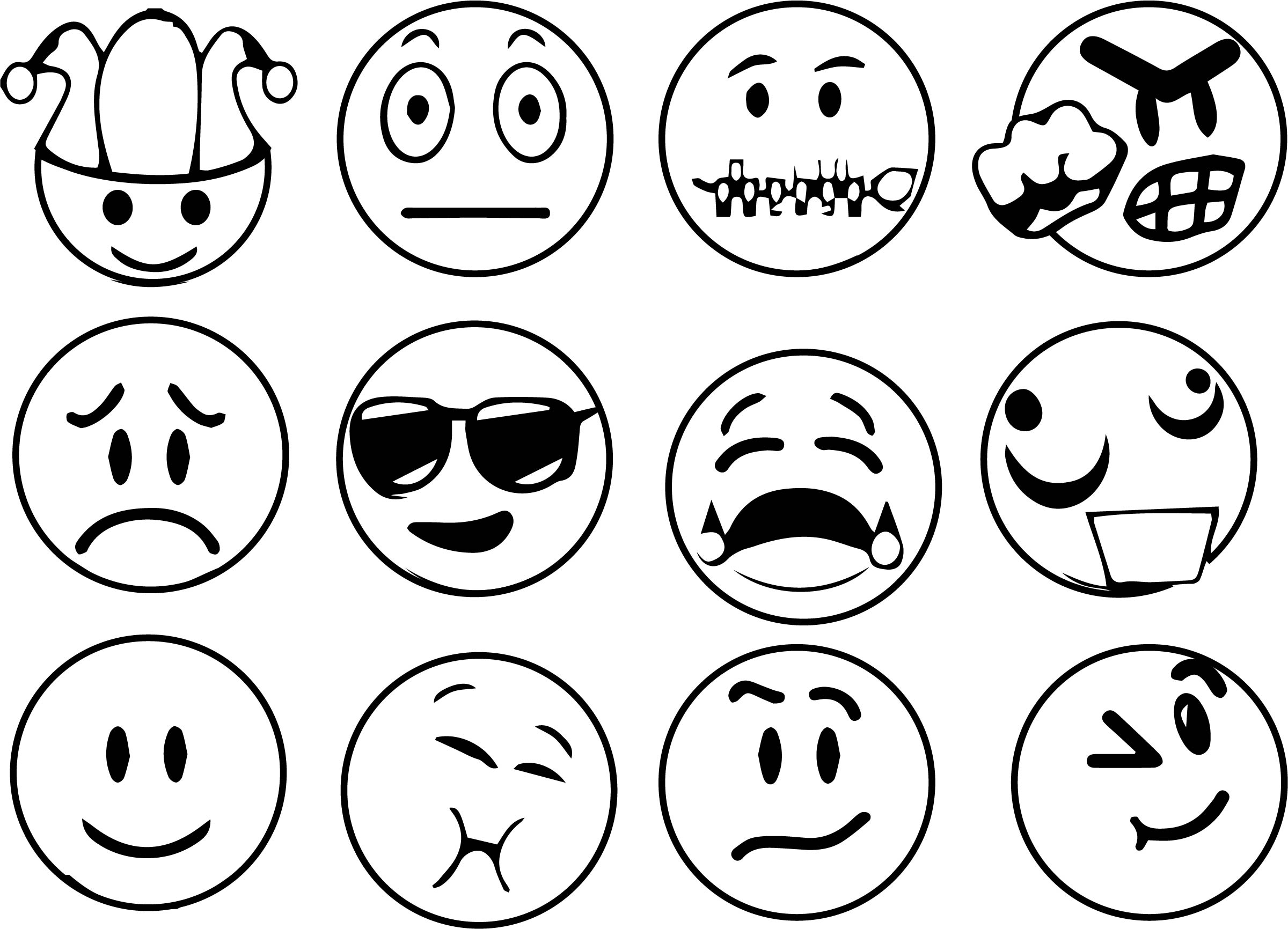 emoticons all face time coloring page