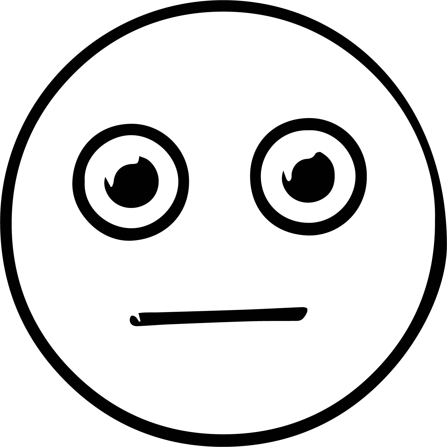 emoticons worried face coloring page