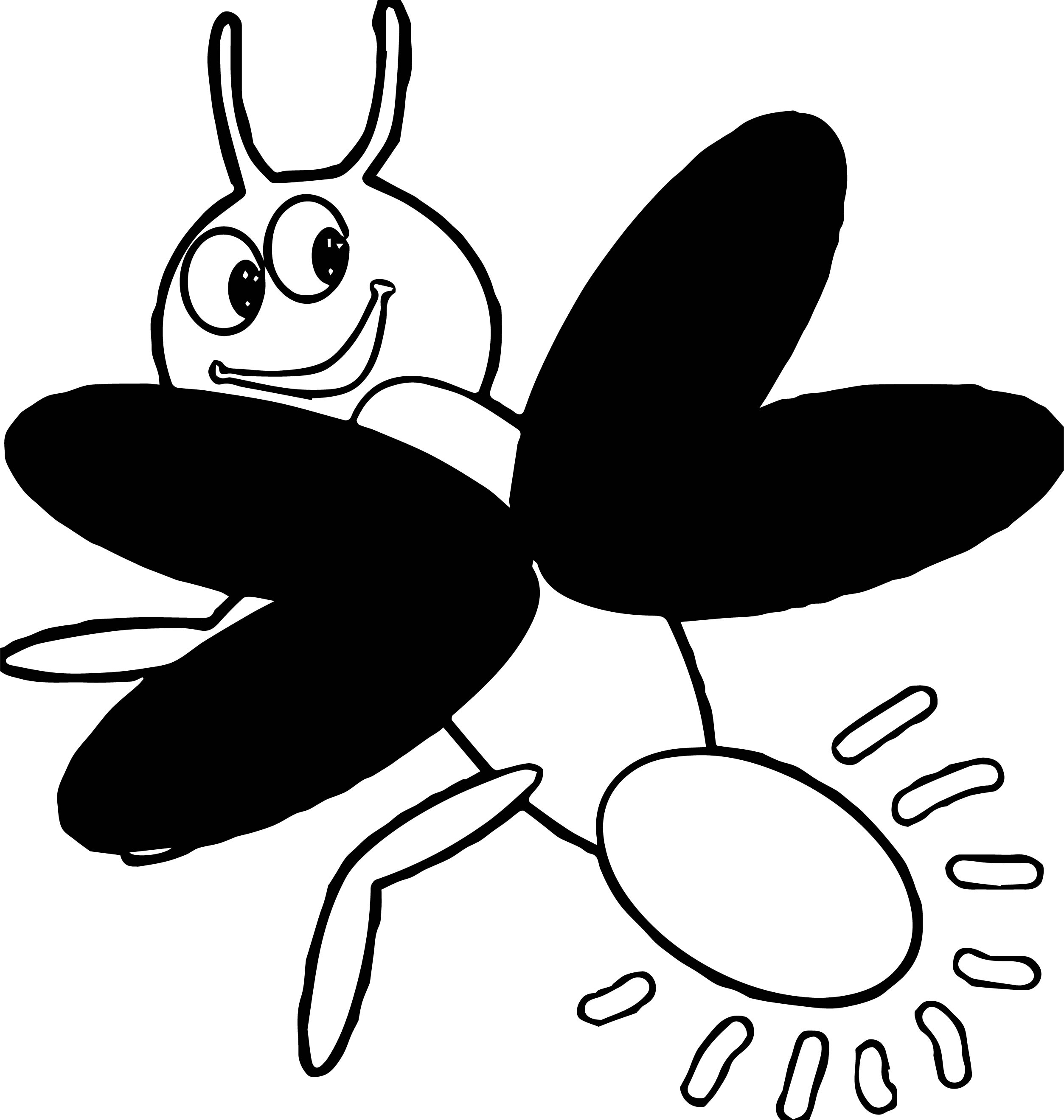 firefly insect coloring page