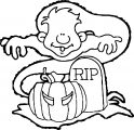 ghost halloween man rip coloring page