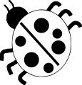 lady bug insect coloring page stay