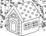 small gingerbread house gingerbread house coloring page