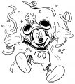 Celebration Mickey Mouse Coloring Page