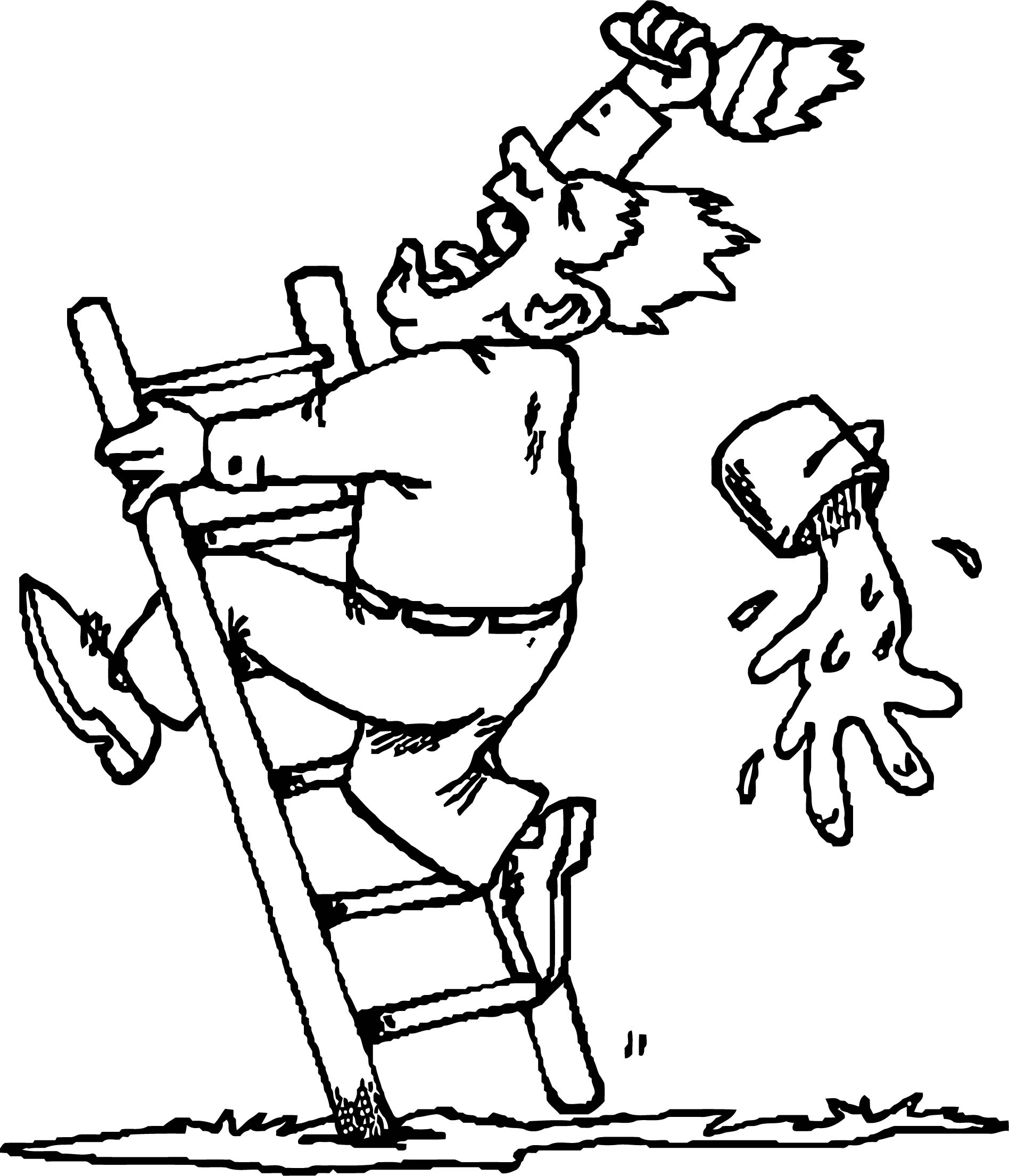 Crazy Painter Coloring Page