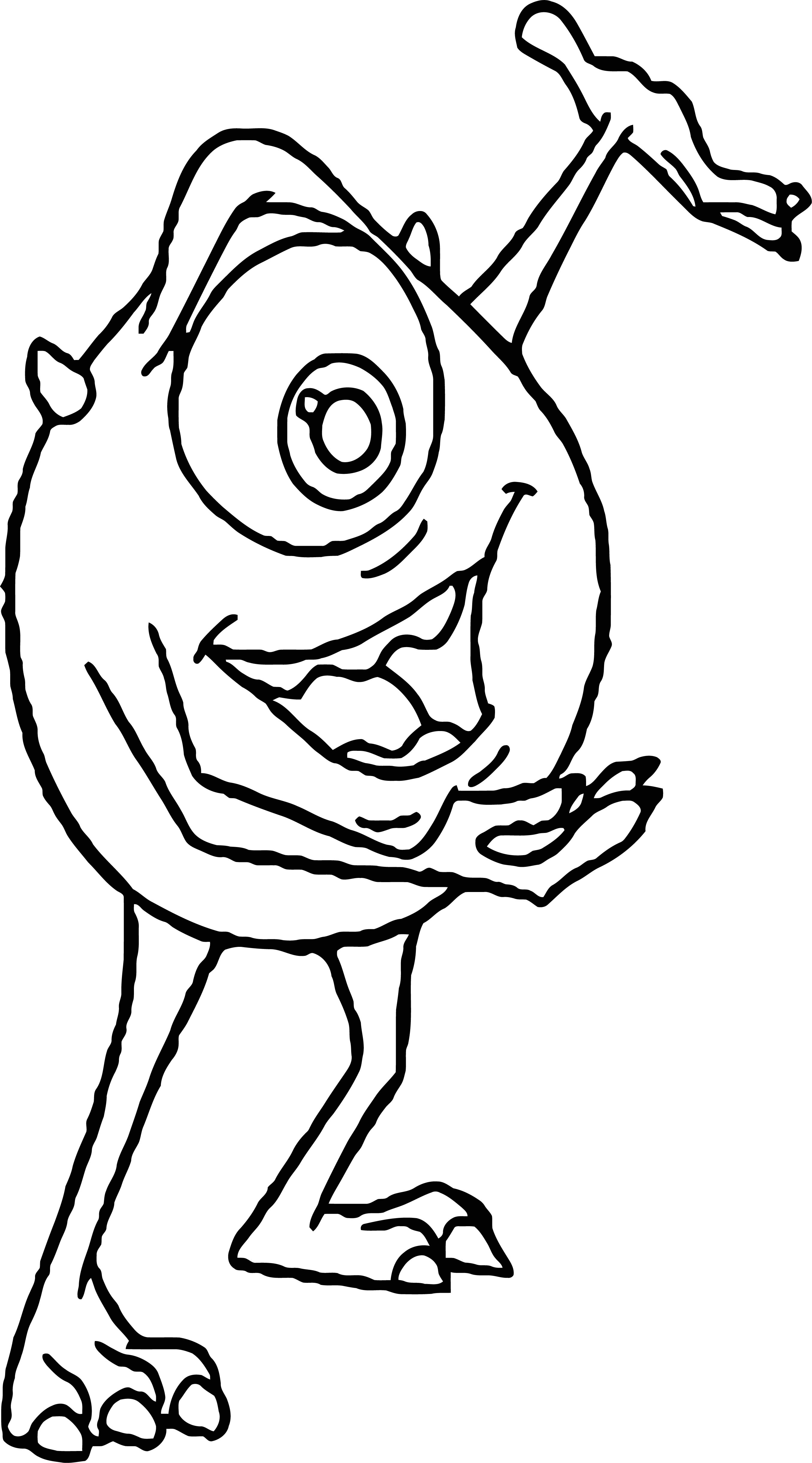 Disney Monsters Coloring Pages 11
