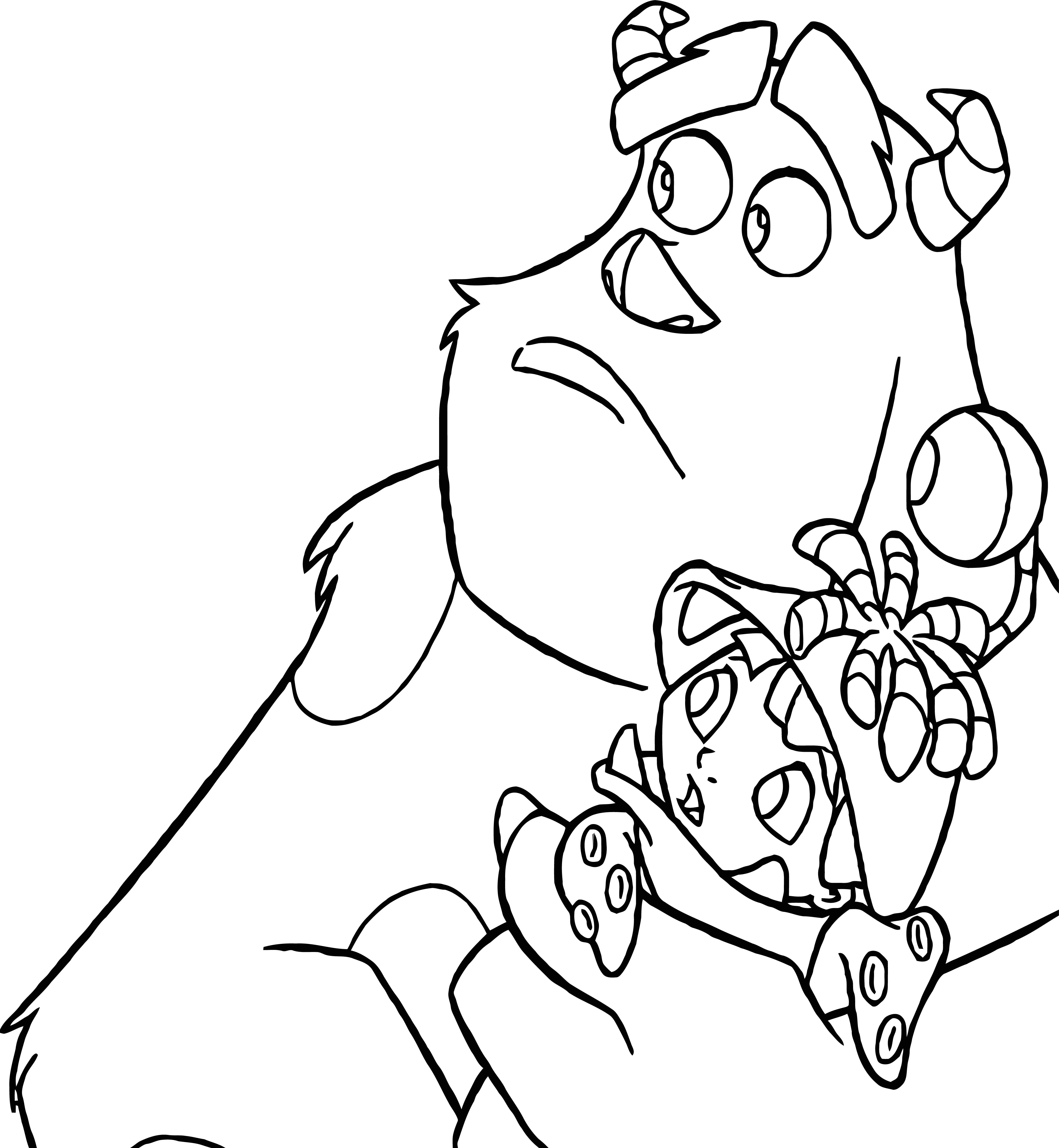 Disney Monsters Coloring Pages 12