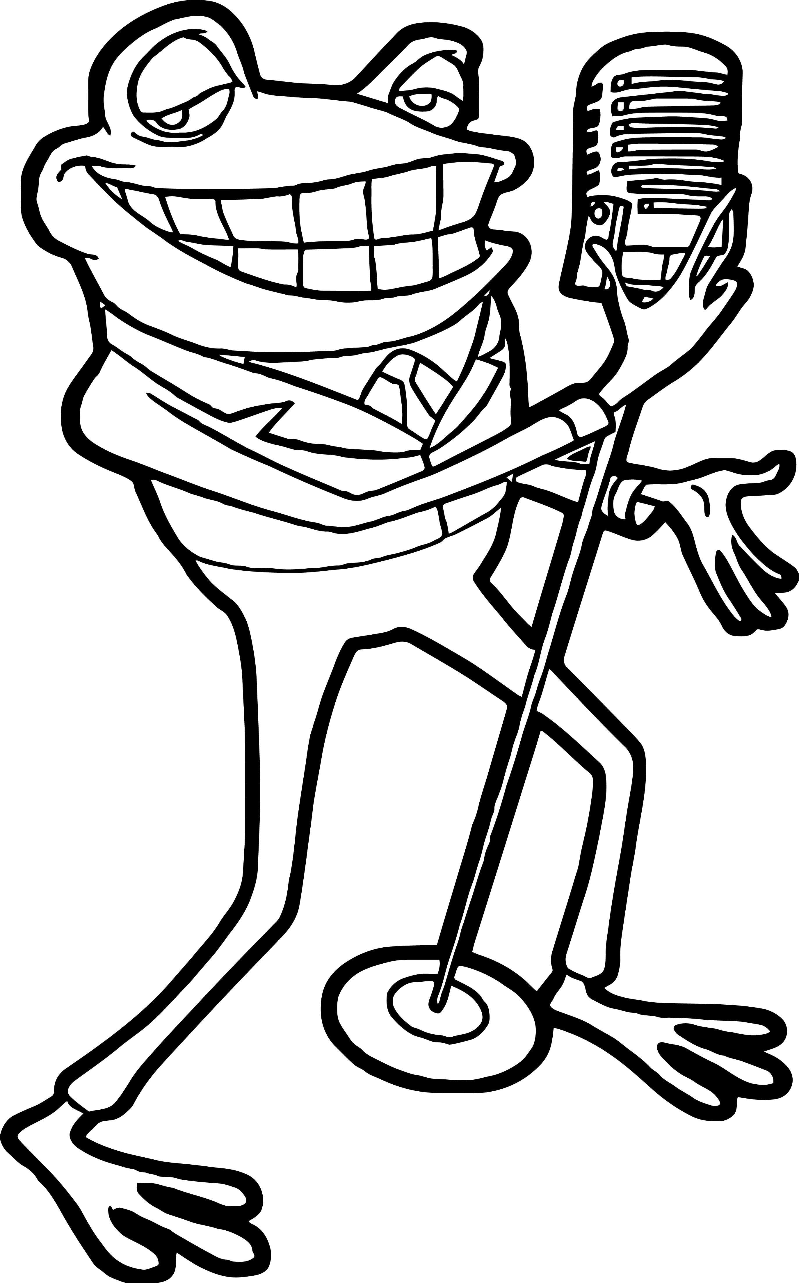 Frankie Frog Music Meet The Robinson Coloring Page