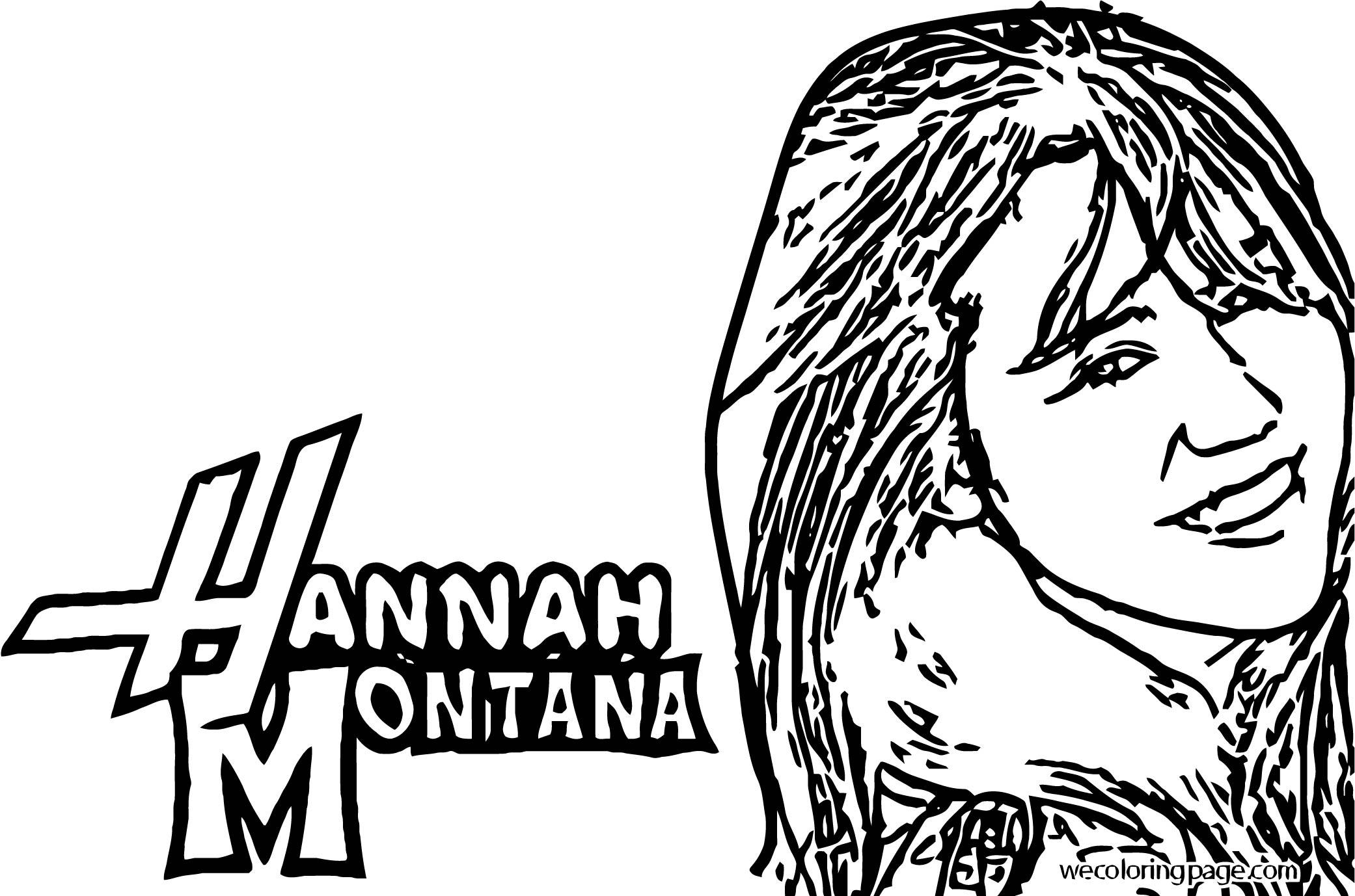 Hannah Montana Coloring Page 02