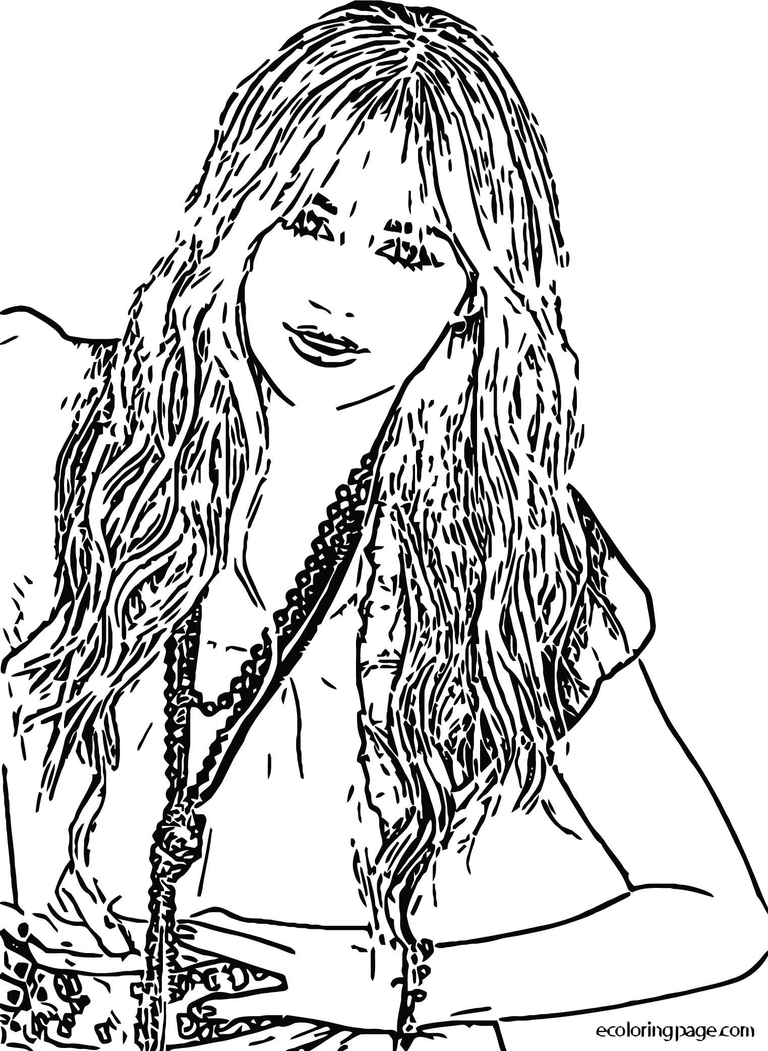 Hannah Montana Coloring Page 06