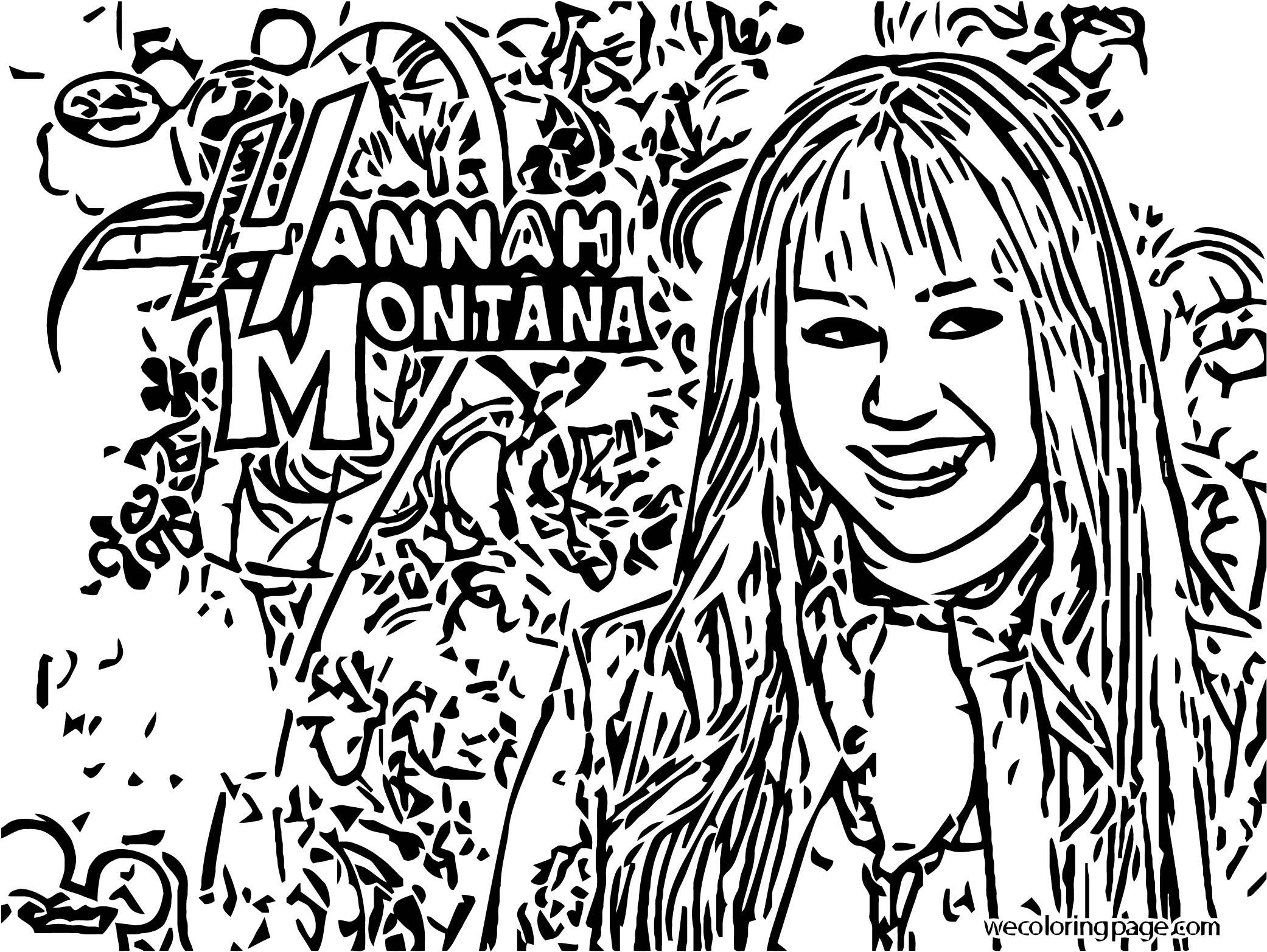 Hannah Montana Coloring Page 08