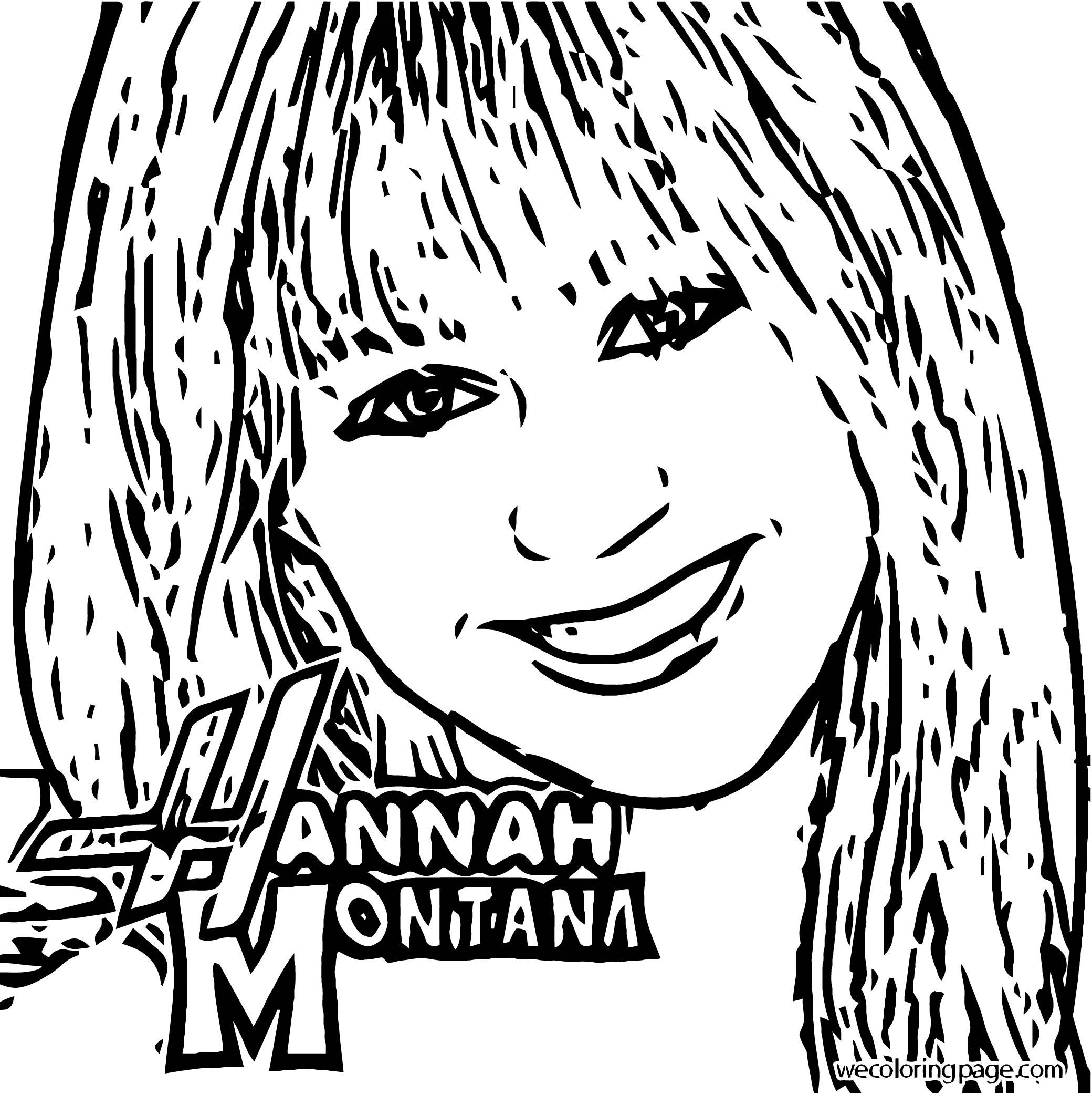 Hannah Montana Coloring Page 09
