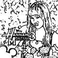 Hannah Montana Coloring Page 10