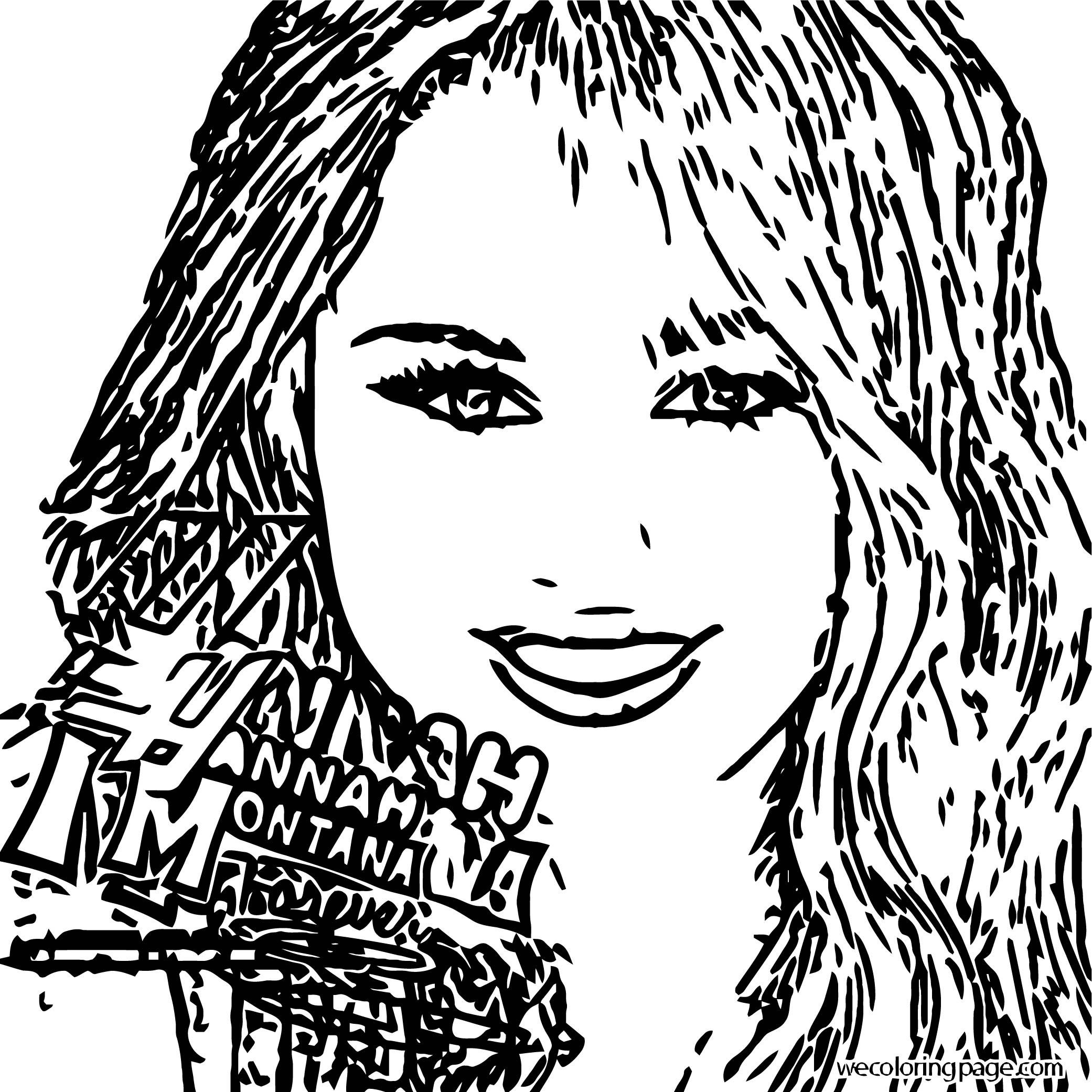 Hannah Montana Coloring Page 13
