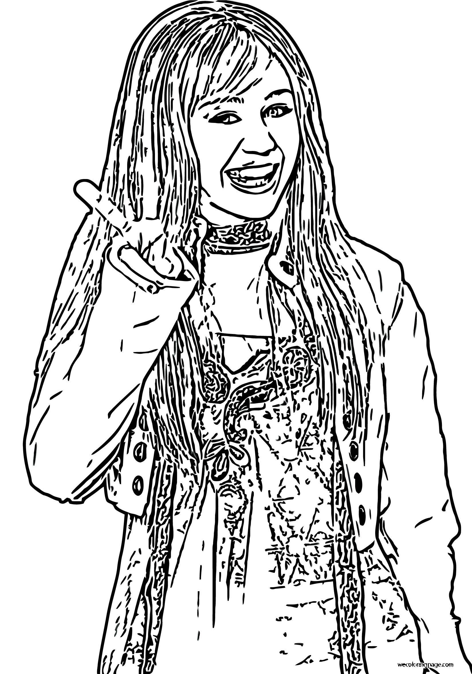 Hannah Montana Coloring Page 14