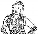 Hannah Montana Coloring Page 19