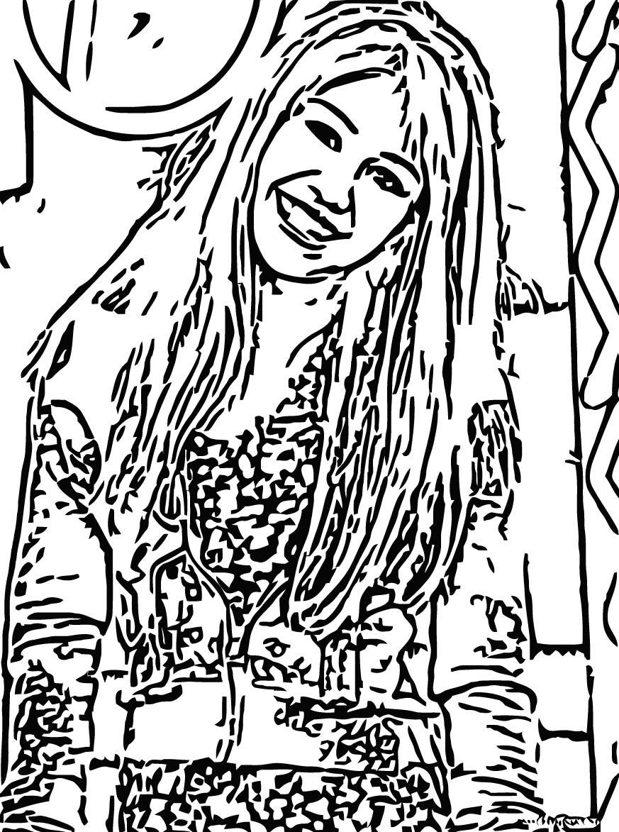Hannah Montana Coloring Page 29