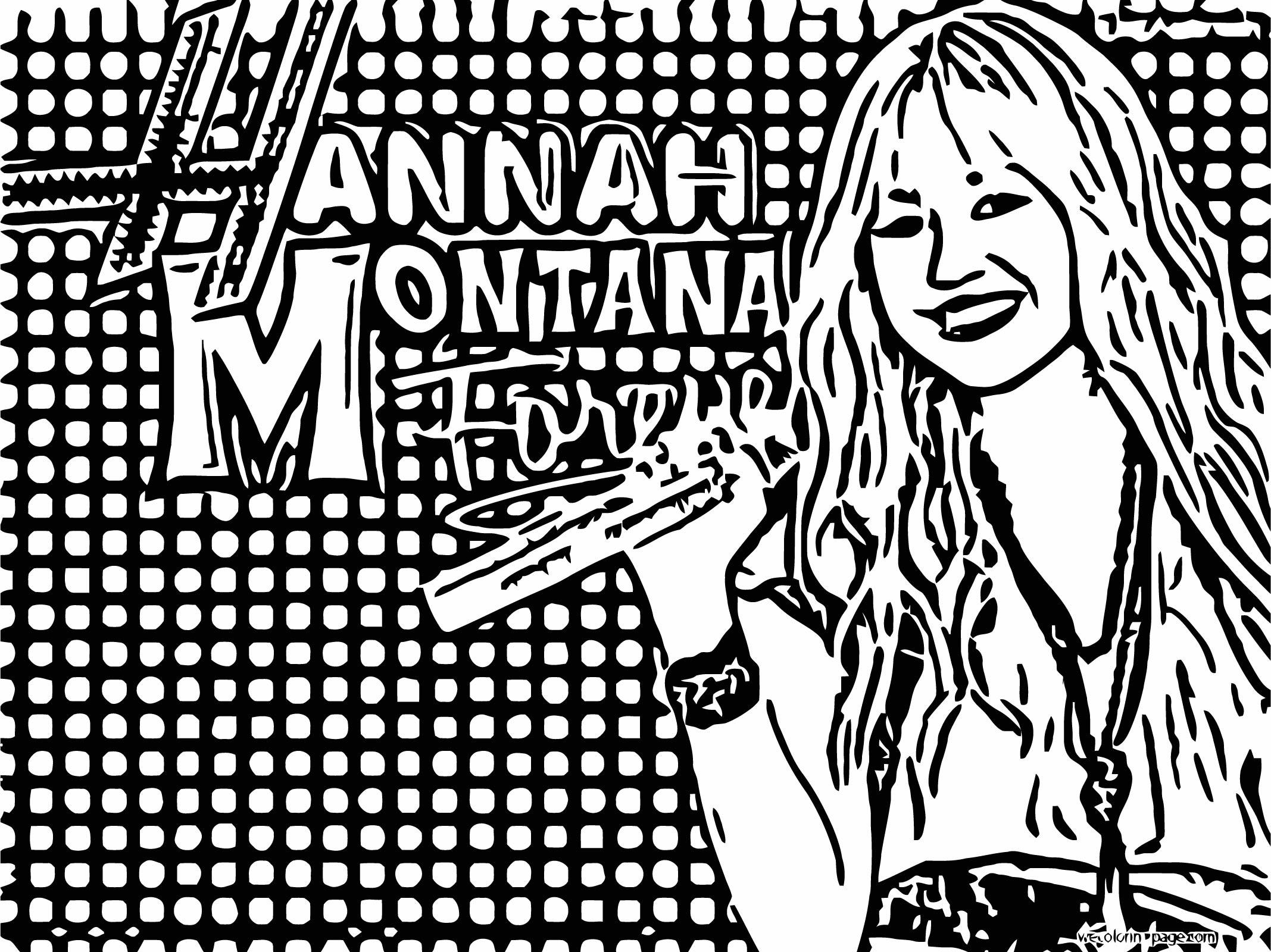 Hannah Montana Coloring Page 32