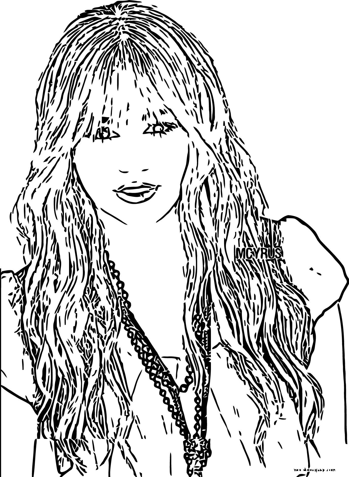 Hannah Montana Coloring Page 33