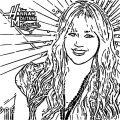 Hannah Montana Coloring Page 45