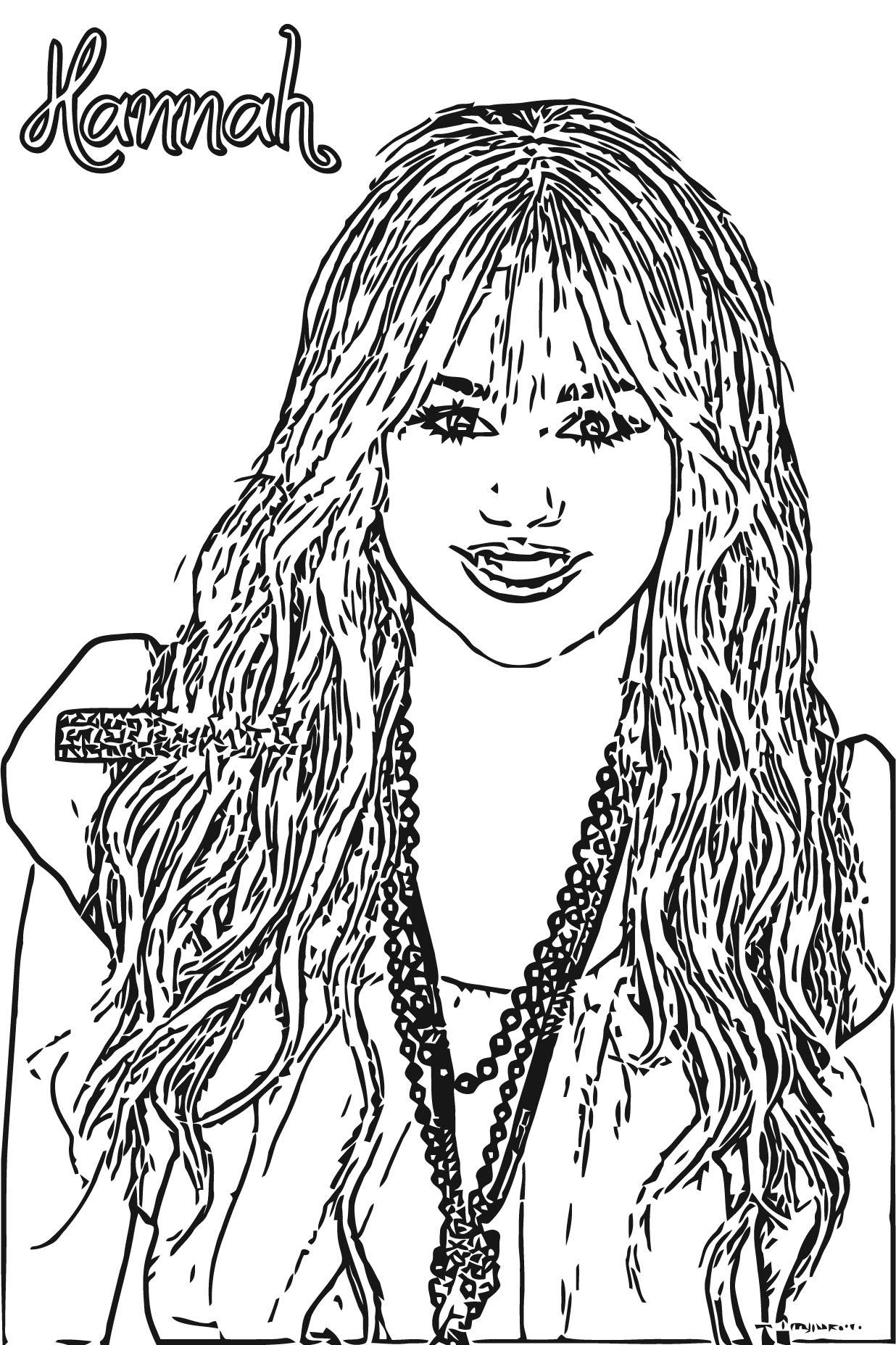 Hannah Montana Coloring Page 46