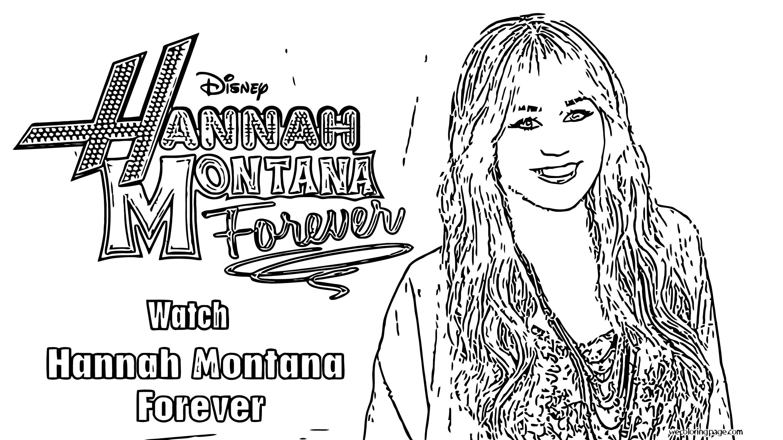 Hannah Montana Coloring Page 49