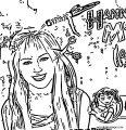 Hannah Montana Coloring Page 60