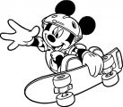 Image Of Micky Mouse On Skate Board Coloring Page