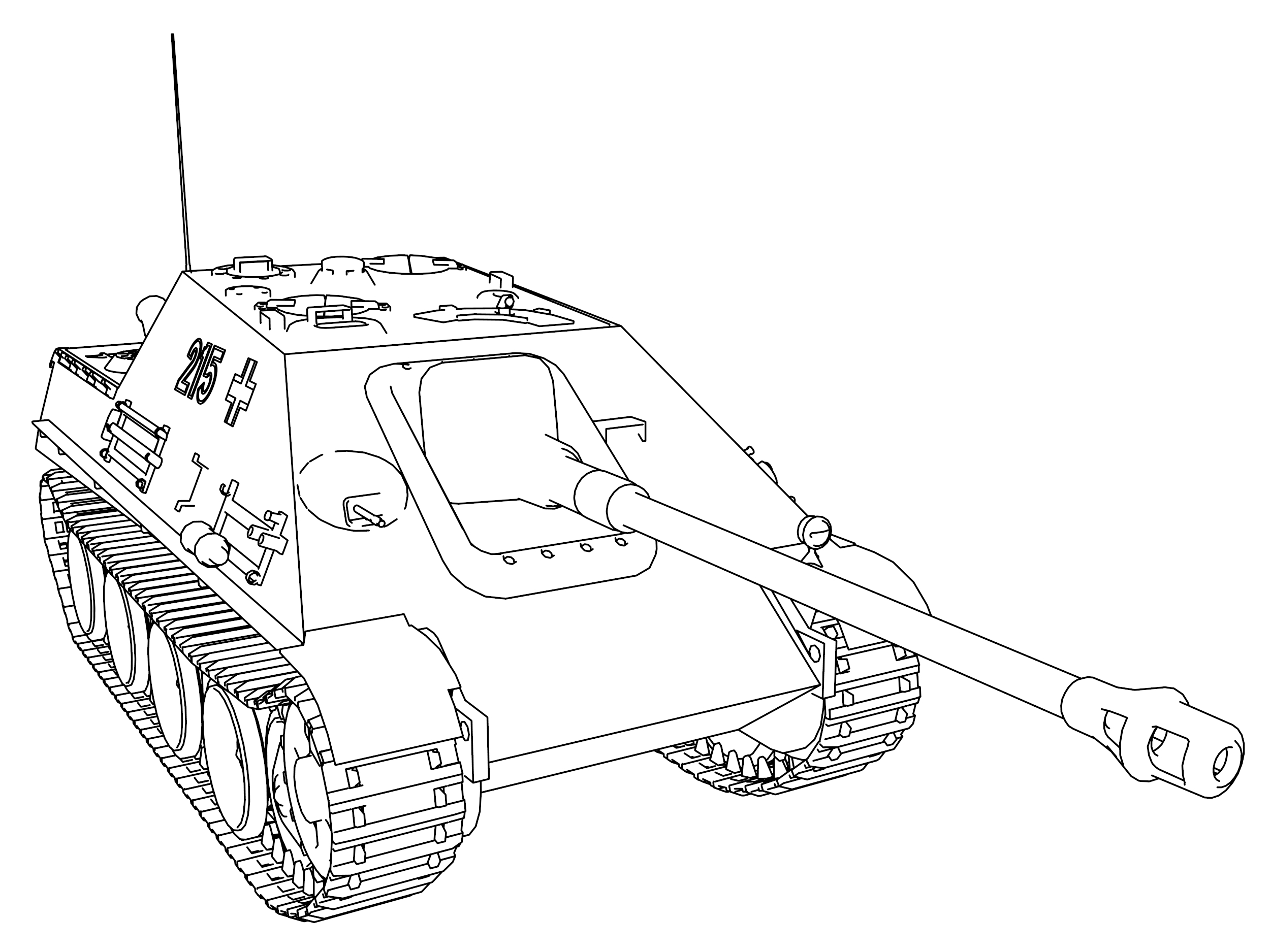 Jagd Panther Coloring Page
