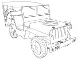 Jeep Welis Military Coloring Page