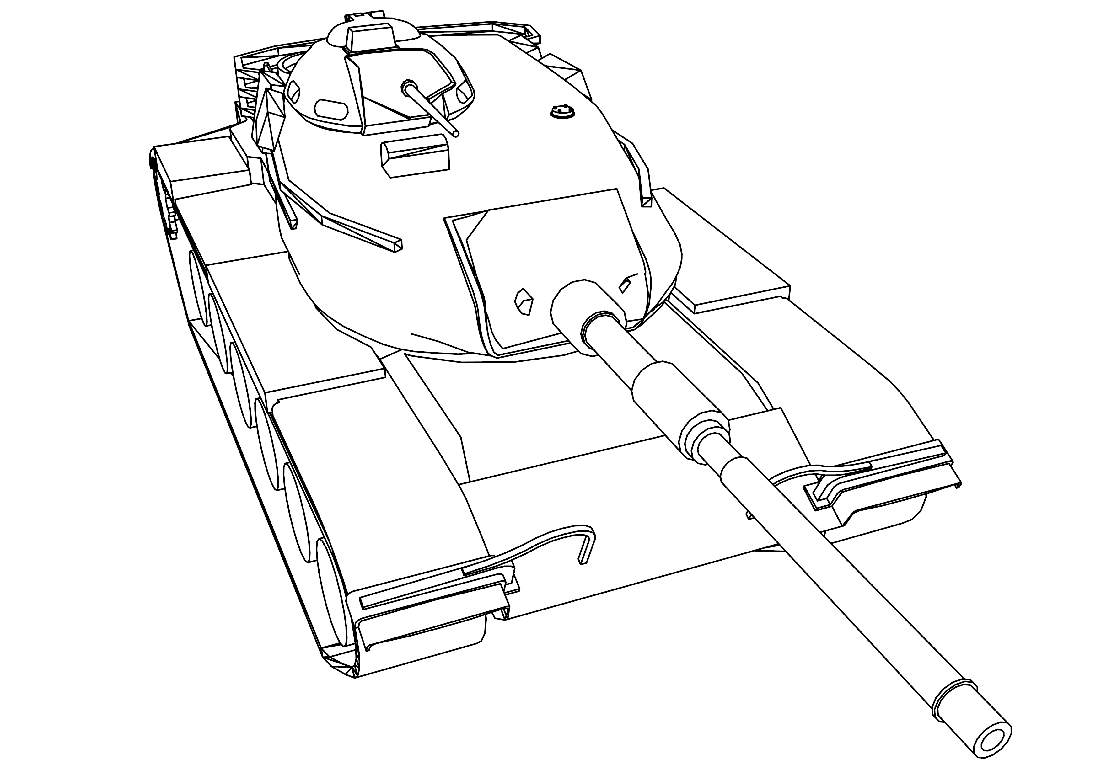 M60 Tank Coloring Page