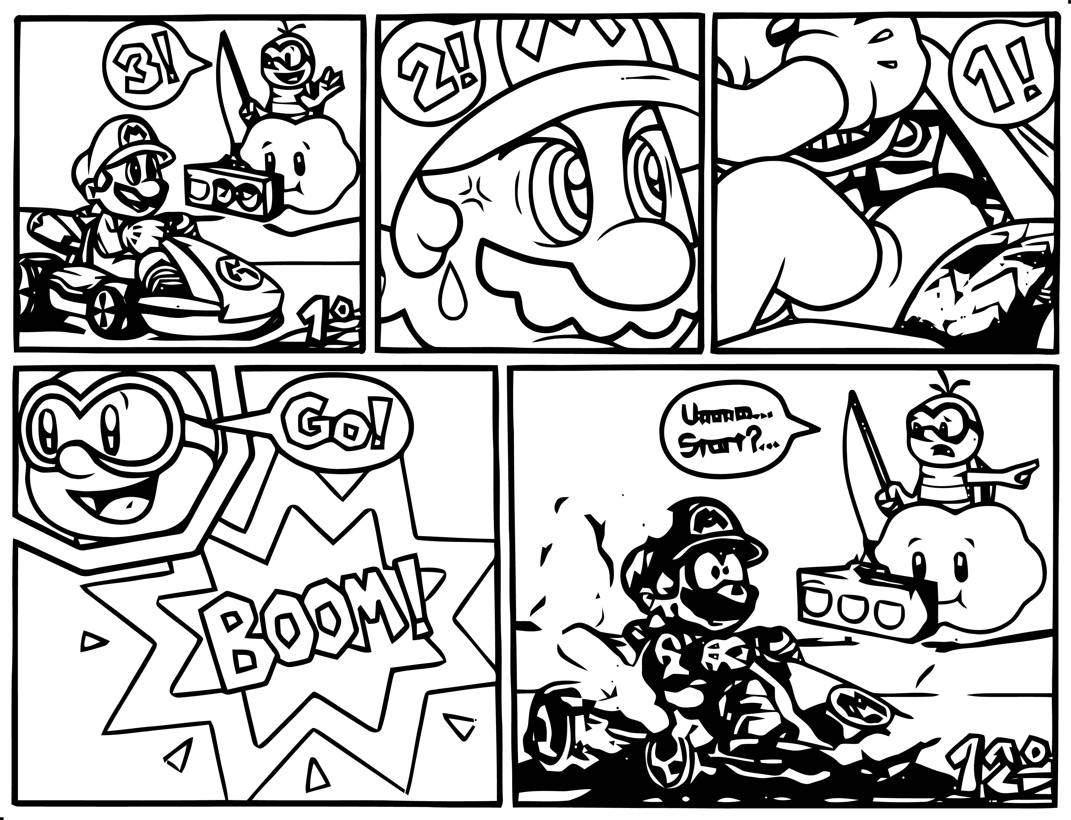 Mario Kart 1967 Coloring Page