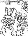 Mario Kart 2007 Coloring Page